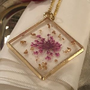 Real flower pendant